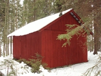 Our old barn at Skramforsen used for the cows in the summer and for working horses in early 1900's
